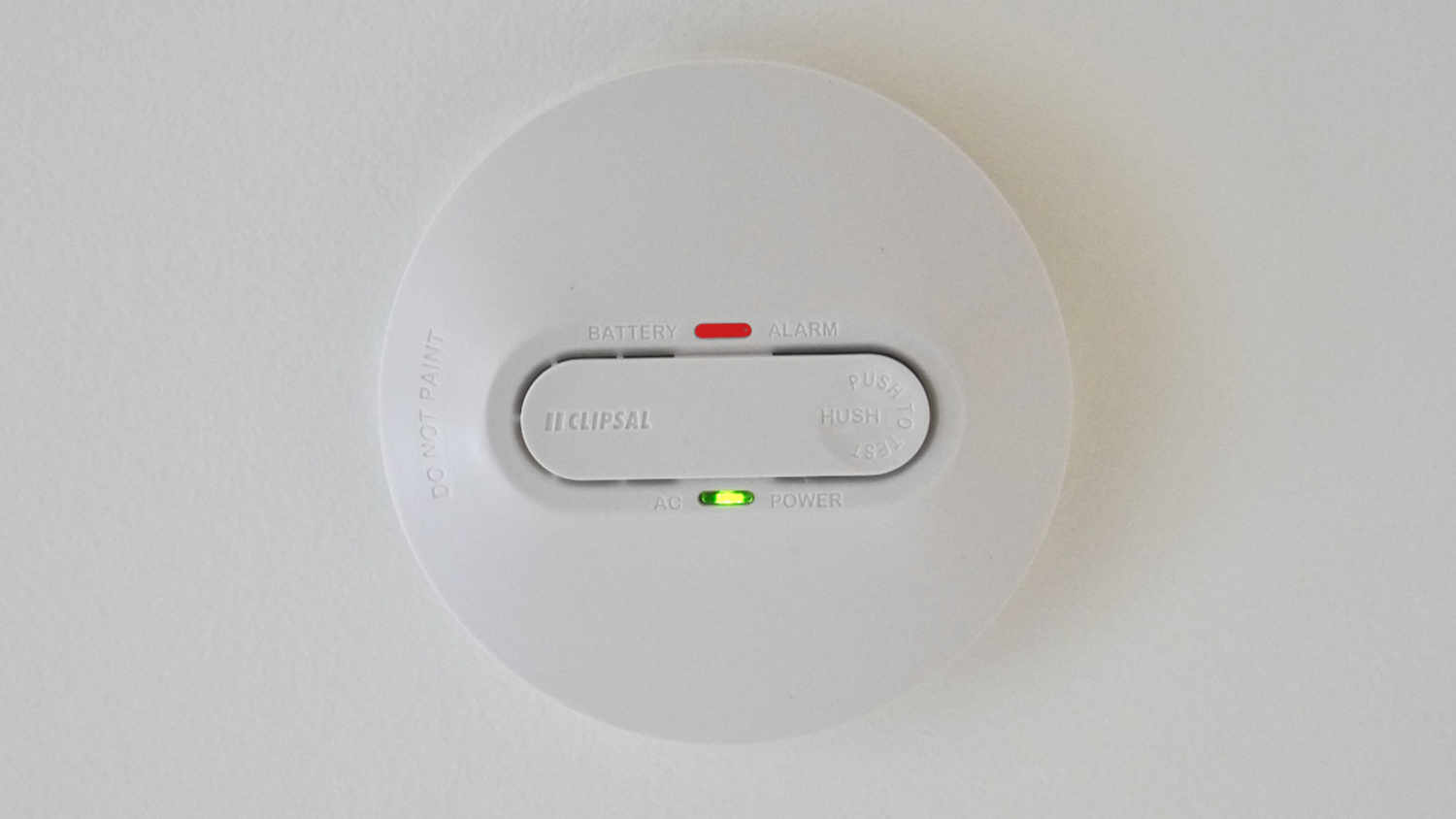 Red Light On A Smoke Detector