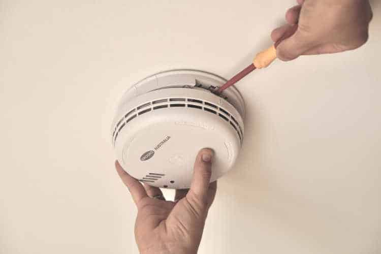 Remove Smoke Alarm By Inserting A Screwdriver