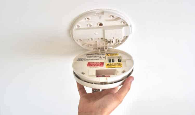 Unhinging A Smoke Detector
